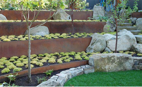 Landscape Retaining Wall: Stunning Design To Prevent Erosion: Big Stone Of  Landscape Retaining Walls