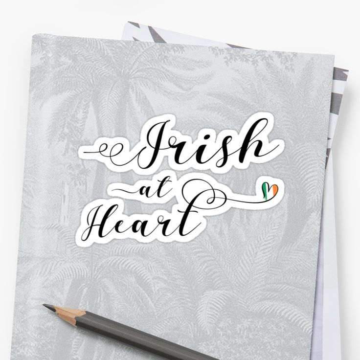 Irish At Heart stickers. Whether you are Irish American, Irish Canadian or have Irish ancestry, have family or friends from Ireland, or if you just love everything Irish! This stylish script design features a little heart with the Republic of Ireland flag. These die-cut stickers are available in different sizes, and are great for sticking on your laptops, windows, journals, or indeed pretty much any clean, smooth surface!
