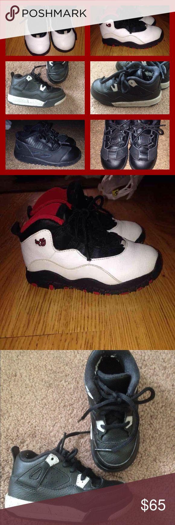 Jordan bundle sz 8/9c Black Jordan Xs sz 9c Black Jordan Oreos 8c Black Jordan 11s sz 8c  All great condition Jordan Shoes Sneakers