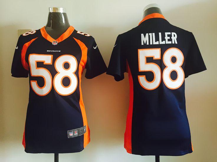 ... repjerseys.ru Women Denver Broncos 58 Miller Blue Jerseys Womens - Nike  Denver Broncos 58 Limited Navy Blue Alternate Super Bowl XLVIII NFL Jersey  Von ... 8c4bff3ec