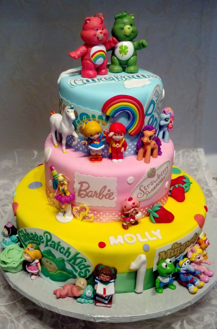 Birthday Cake Images With Cartoon Character : 80 s Characters Cake Character Cakes Pinterest Gi ...