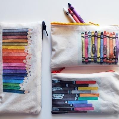DIY Art Supply Pouch / Pencil Case #free #pattern