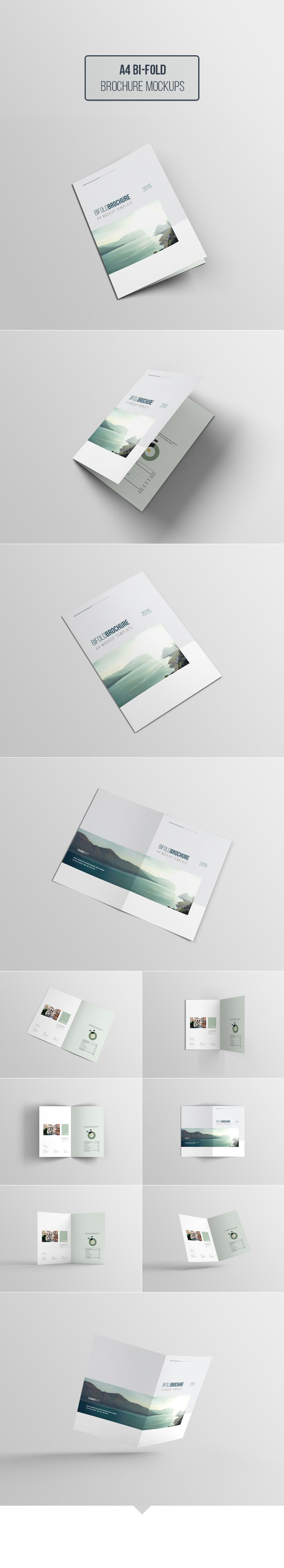 Free Dowload - A4 Bi-Fold Brochure Mockups