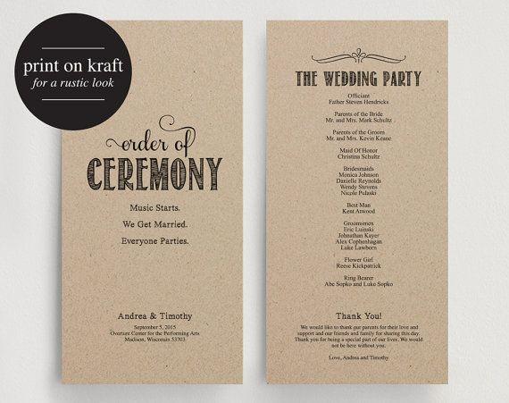 25 best ideas about print your own wedding programs on pinterest diy wedding programs bhldn promo code and microsoft shop