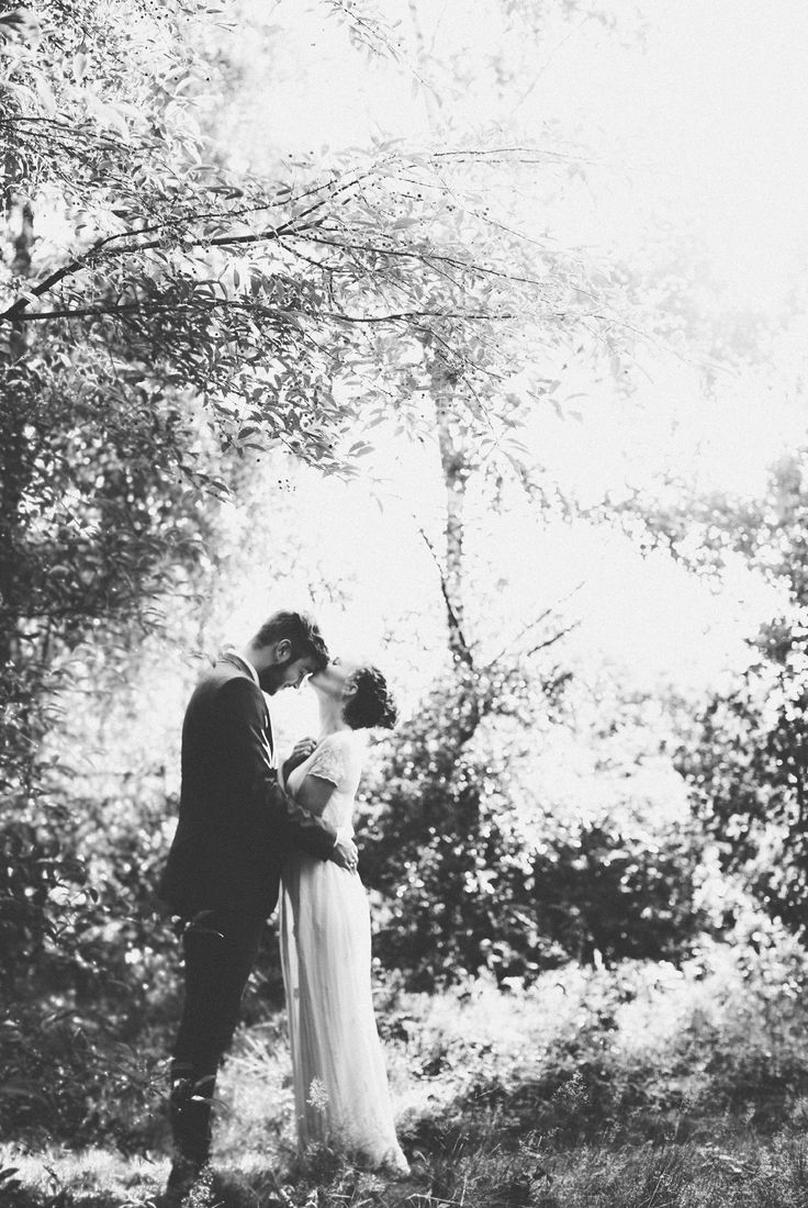 Would be cute with Bride standing on a log or something leaning down kissing him...for those of us with taller significant others ;)