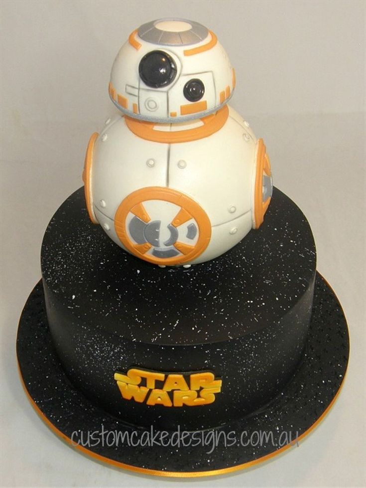 Bb8 Star Wars Cake With Images Star Wars Birthday Cake Star