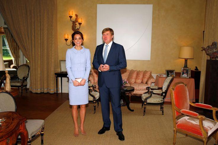 Vojvodkyňa Kate a holandský kráľ Willem-Alexander. | Nový Čas