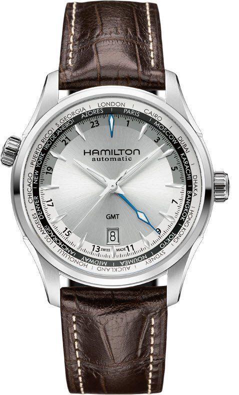 @hamiltonwfan Watch Jazzmaster GMT #bezel-fixed #bracelet-strap-leather…