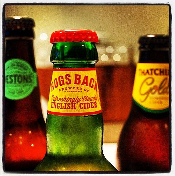 Cider Bottle Tops - Hogs Back Hazy Hog, Thatchers Gold and Westons Wyld Wood Pear cider
