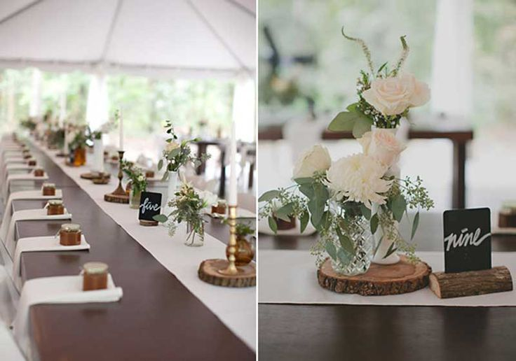 Country Centerpiece Ideas   ... , Rustic Centerpieces Ideas: Hailey and Jordan : Country farm wedding