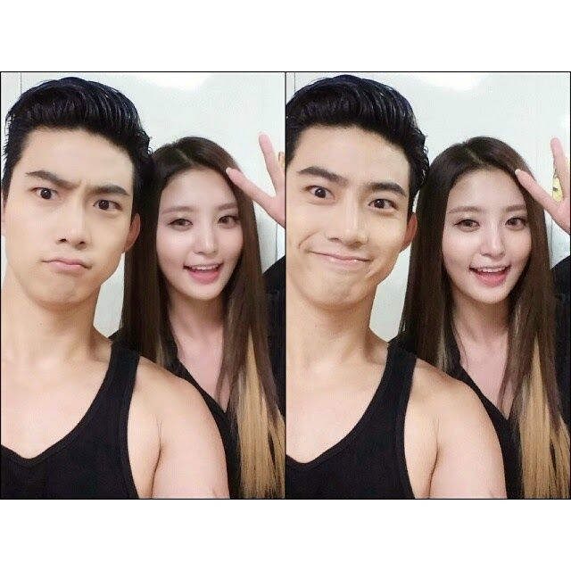 Childhood friends EXID's Junghwa & 2PM's Taecyeon take two-hot selcas