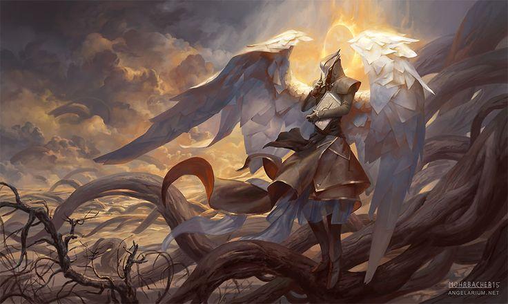 Raziel, Angel of Mysteries - Art by Peter Mohrbacher - Angelarium