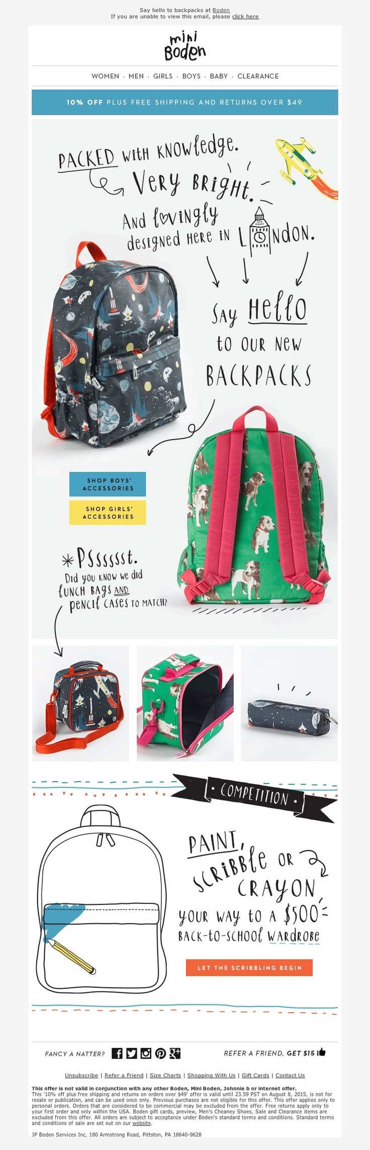 Boden -  7/2015 sl: Backpacks that are IMPOSSIBLE to ignore