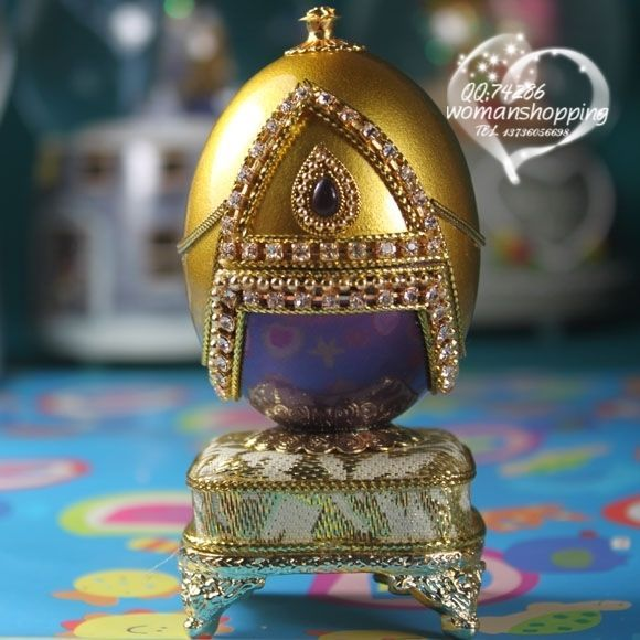 Purple and gold Faberge style Russian carved egg music box free shipping e05 on AtomicMall.com http://atomicmall.com/view.php?id=2287295_source=Twitter_medium=ProductToools