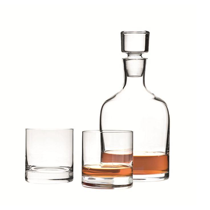 Deze luxe 3-delige whiskey set van Leonardo bevat een karaf en 2 glazen. Een absolute musthave voor de echte whiskey liefhebber!