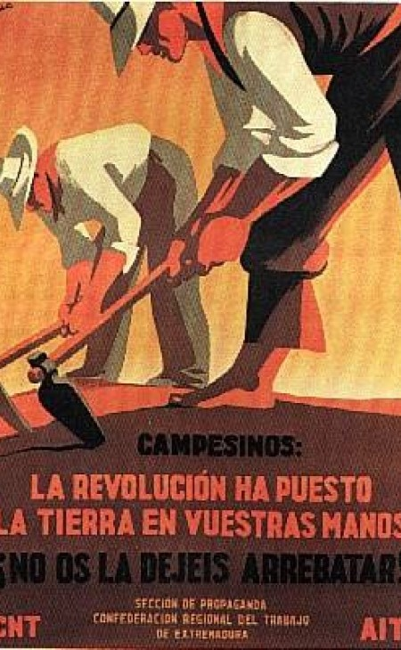 Cartel de propaganda anarquista CNT-FAI | Guerra civil Española 1936-1939