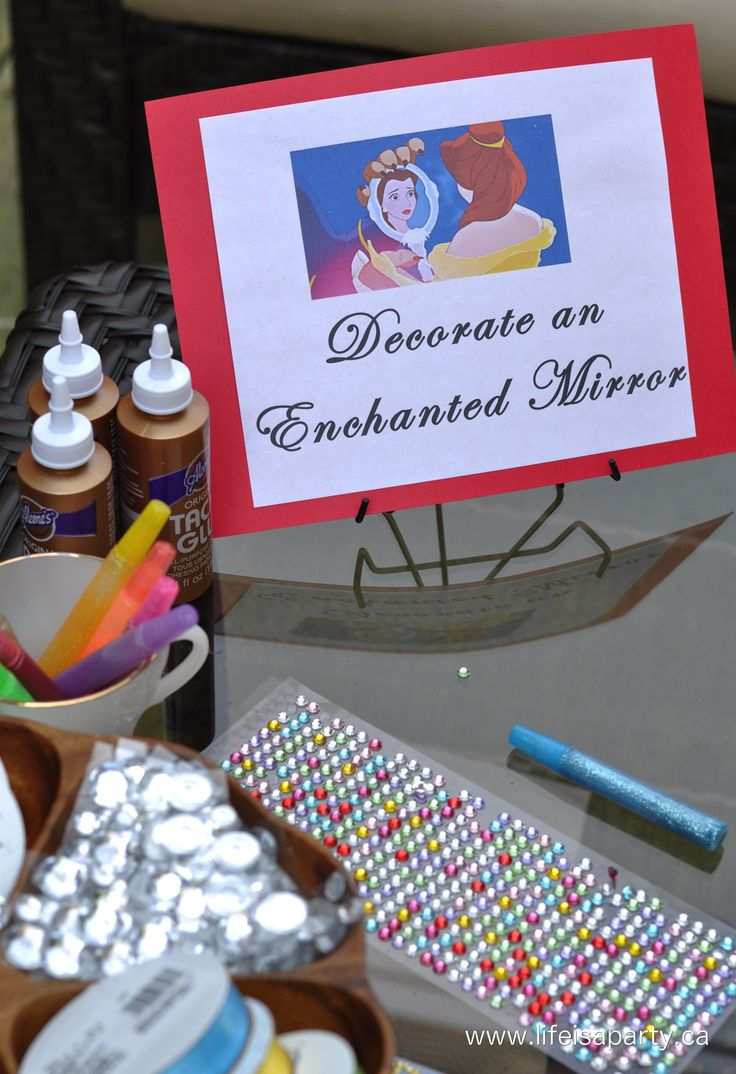 Beauty and the Beast Party Activities -5 great Beauty and Beast themed party activities with inexpensive and easy to find materials that every kid would love.  Set-up stations in your backyard and have the best party ever!
