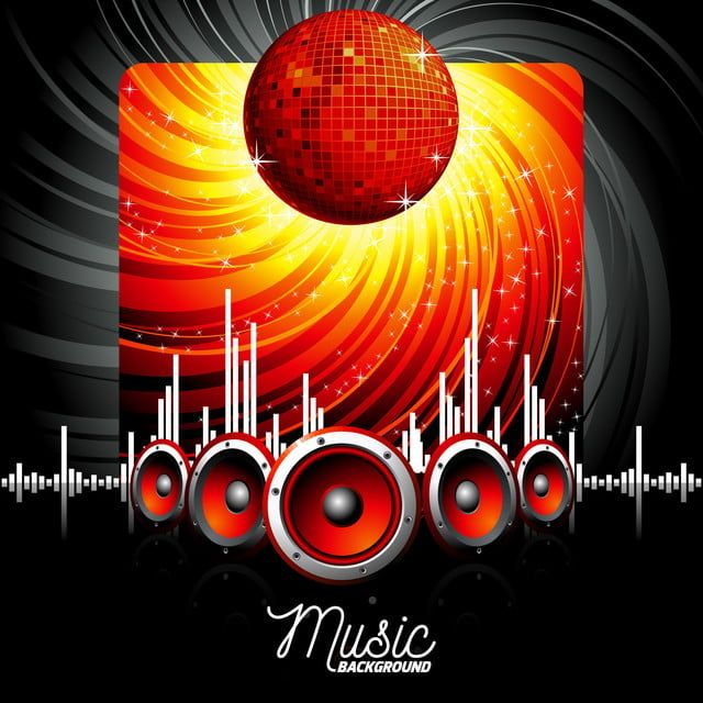 Illustration For A Musical Theme Music Sound Background Png And Vector With Transparent Background For Free Download In 2020 World Music Day Musical Theme Music Party