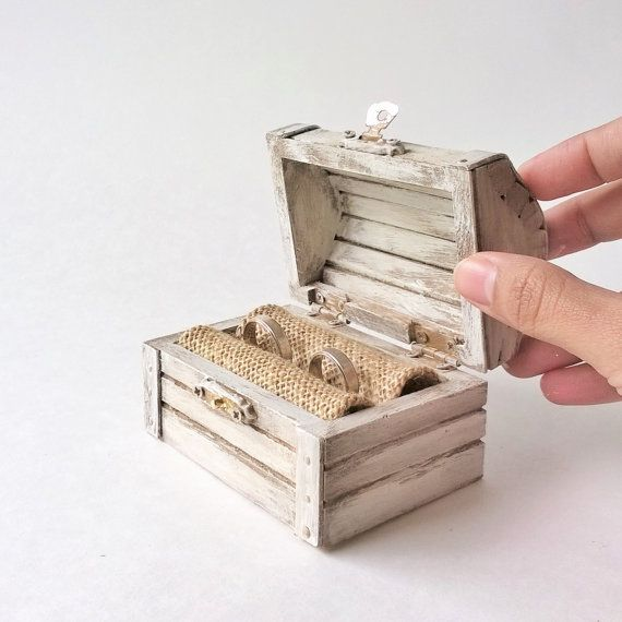Ring Bearer Box Hey, I found this really awesome Etsy listing at https://www.etsy.com/listing/225690980/white-treasure-chest-ring-bearer-rustic