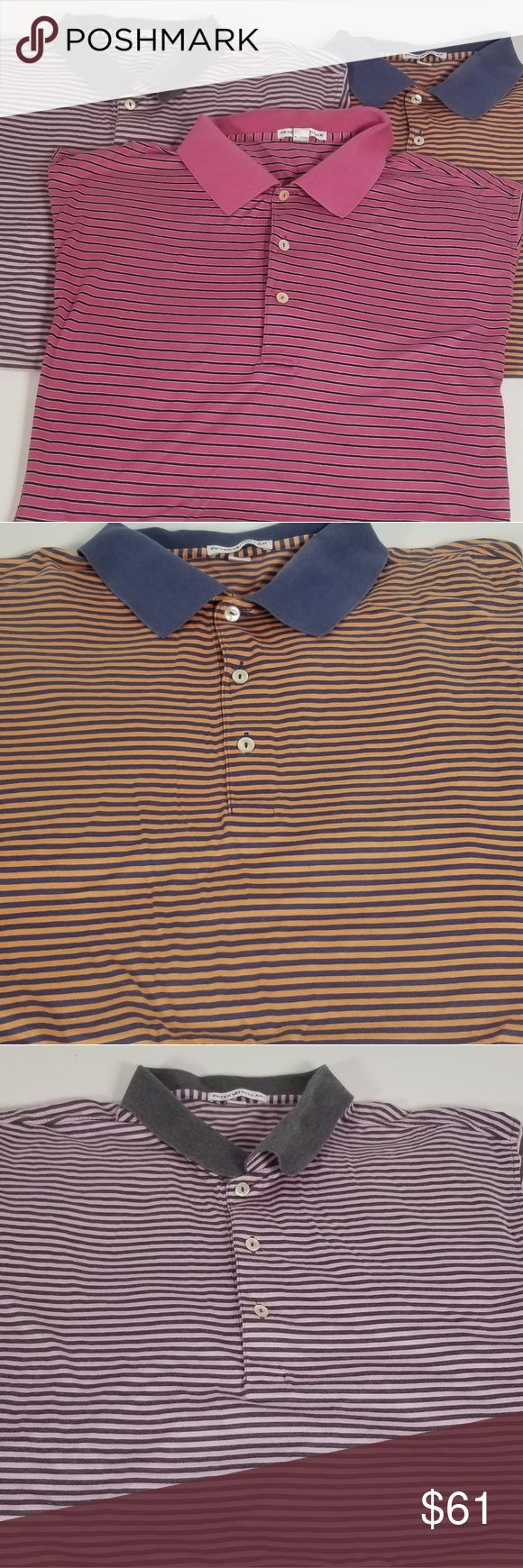 Lot of 3 Peter Millar XL Polo Golf Shirts EUC no flaws