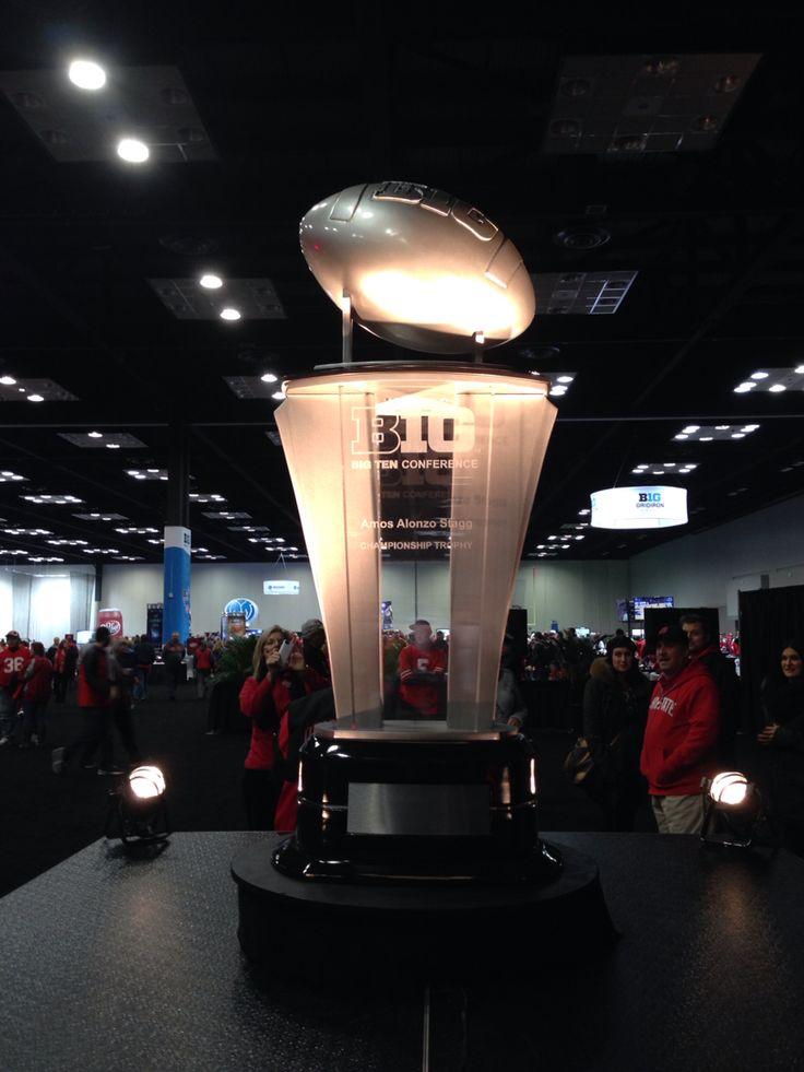 Big 10 championship trophy ohio state football ohio