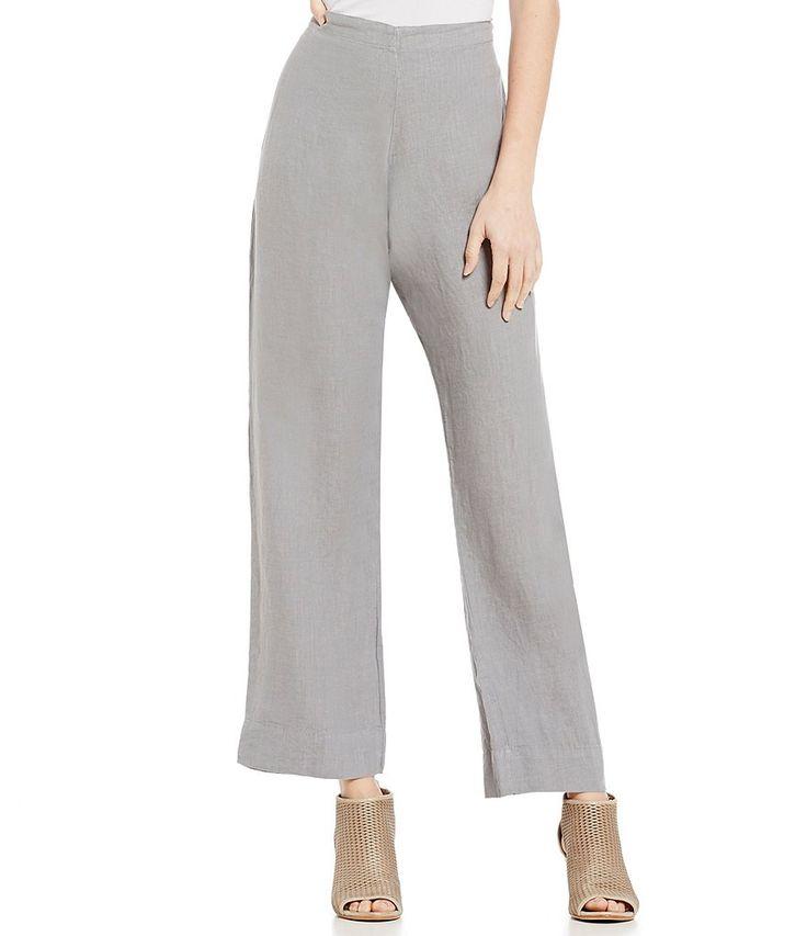 Bryn Walker Flat Front Linen Elastic Waist Pants