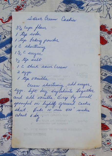 Preserving Recipes by Alli: Sour Cream Cookies