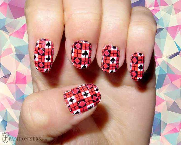 cool 12 Modern Checkered Nail Art Designs