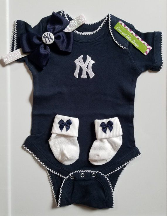 011627ccd new york yankees baby girl outfit-yankees girl-ny yankees newborn-yankees  baby-new york yankees baby girl shower gift/yankees girl take home