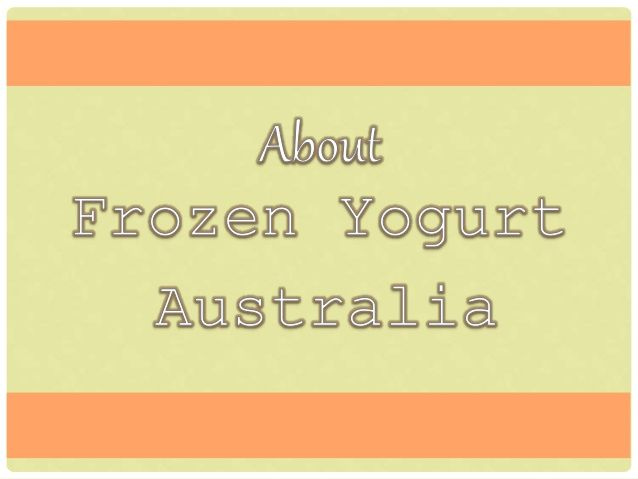 Frozen Yogurt Australia manufactures and distributes their powdered base products of soft serve ice-cream, frozen yogurt and beverages
