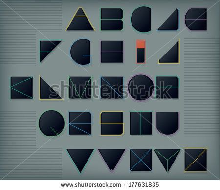 Geometric font by Catharsis Vectorielle, via Shutterstock