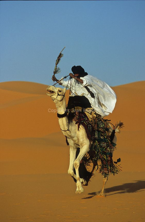 Ahmed is a Touareg from Djanet in Algeria. Camel rider by Jean Robert