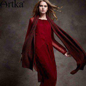 Артка & Artka Женский длинный очаровательный шарф из кашемира с геометрическими фигурами PC19343D(для предзаказа)F1-м