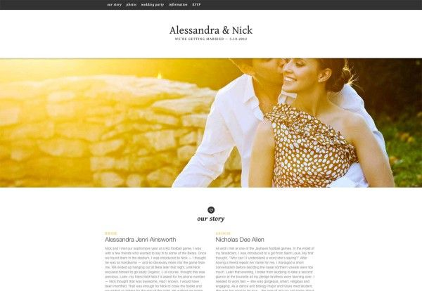 30 Most Elegant Wedding Websites With Attached Creativity