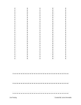 Preschool Line-Tracing Worksheet