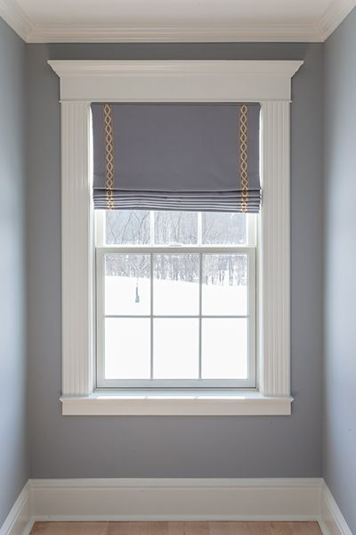 Purple custom window treatments