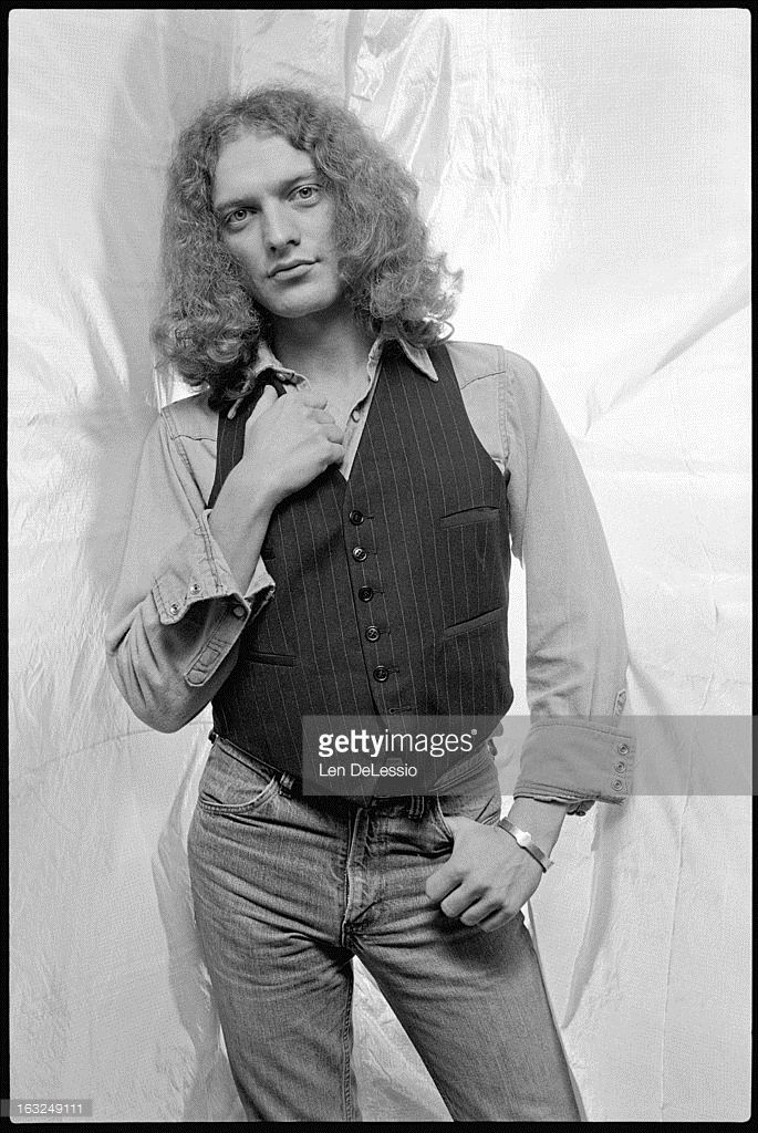 Portrait of American musician Lou Gramm (born Louis Andrew Grammatico), of the band Foreigner, as he poses in the photographer's studio, New York, New York, 1976.