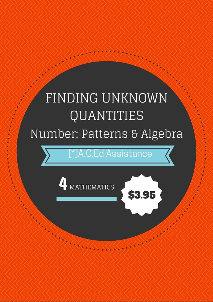 MATHEMATICSThis resource directly relates to content descriptor ACMNA083 (Patterns and Algebra).This resource includes:- An introduction- Diagnostic assessment- Practice worksheet- Differentiated activities...