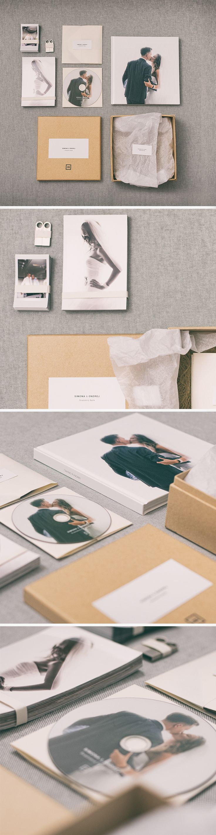 Classic Wedding packaging for USB, DVD, classic and instax photo.
