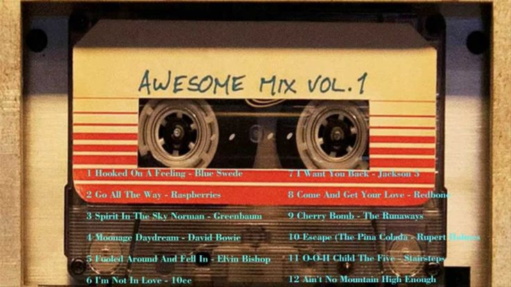 Guardians of the Galaxy: Awesome Mix, Vol. 1 00:00 Hooked On A Feeling - Blue Swede 02:52 Go All The Way - Raspberries 06:13 Spirit In The Sky Norman - Green...