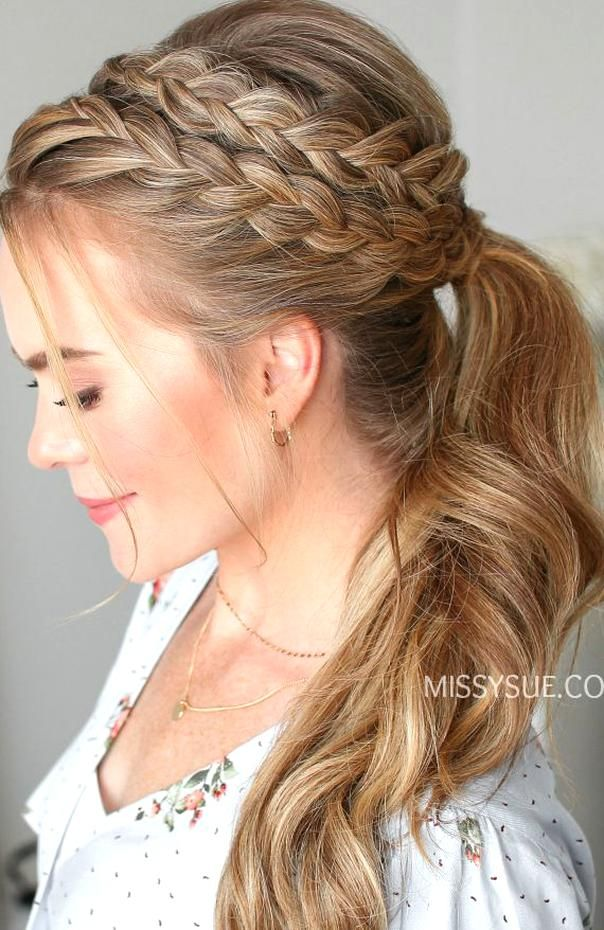 I Lovebo Braids And This Look Is Absolutely Eous Check Out The Step By Step And Video Tutorial For Thi In 2020 Thick Hair Styles Headband Hairstyles Braided Hairstyles