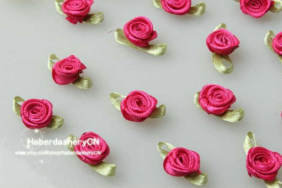 R14 FREE SHIP 450pcs Satin Ribbon hot pink by haberdasheryCN, $16.00