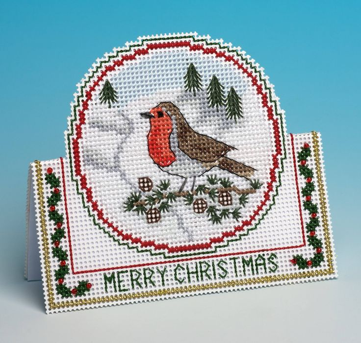 Have a rousing red robin deliver your season's greetings this year with this pattern from the home of 3D cross stitch card kits