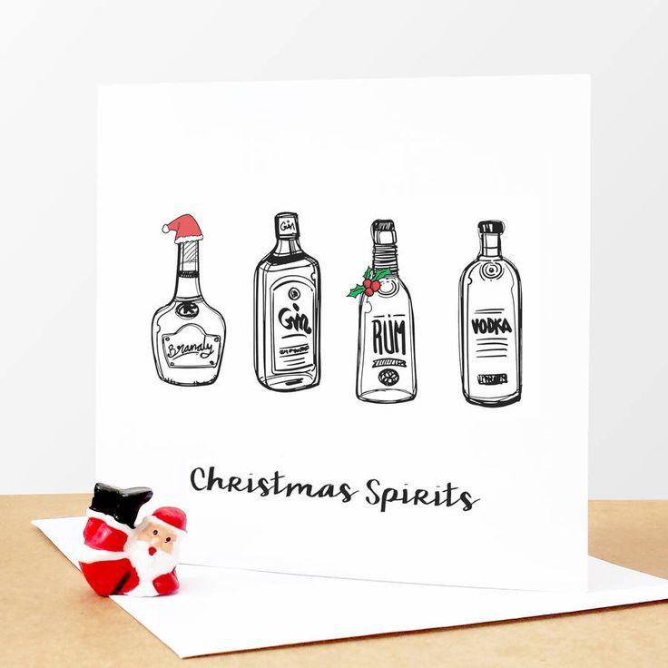 'Christmas Spirits' Funny Christmas Card