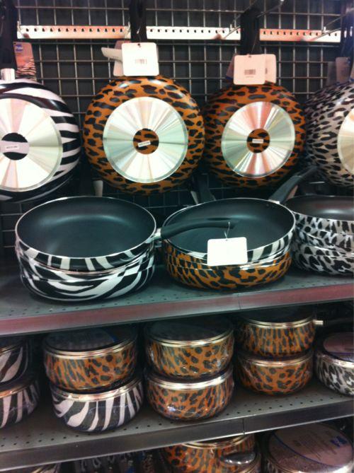 Funky Cool Unusual Home Dec Kitchen Items Zebra Leopard Print Pots Pans