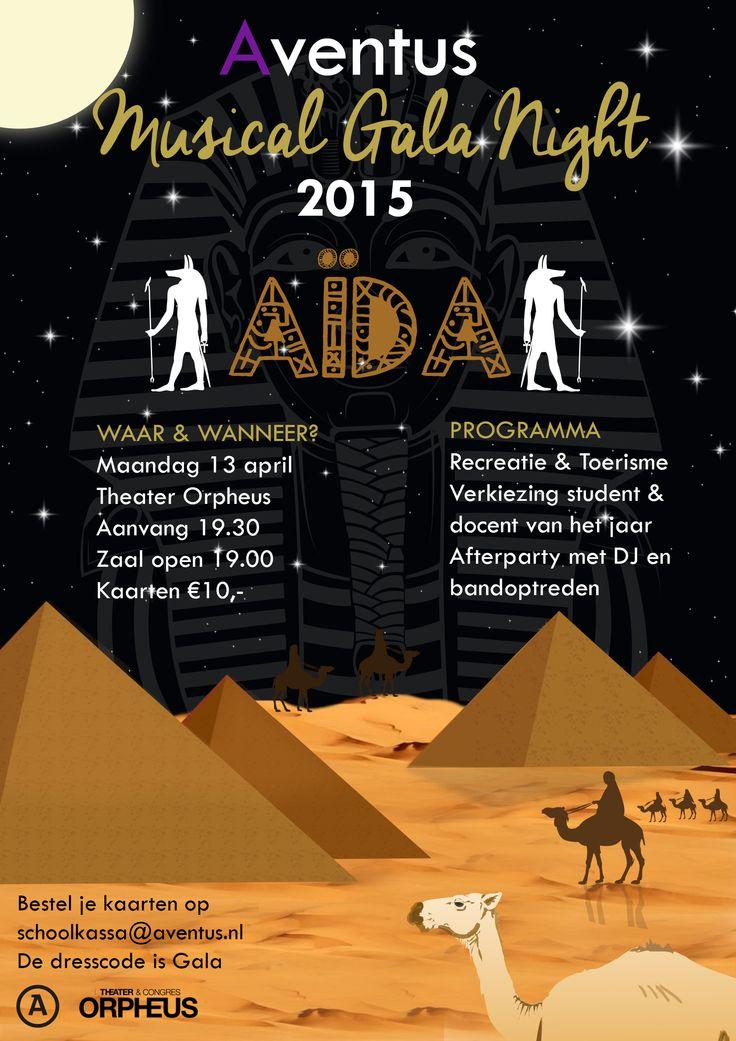 In opdracht voor de opleiding Recreatie & Toerisme - Poster voor de Musical Gala Night 2015