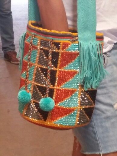 Wayuu Crystals Large Handbag