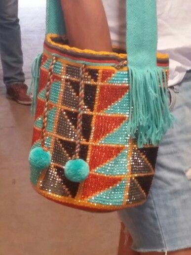 Wayuu Crystals Large Handbag