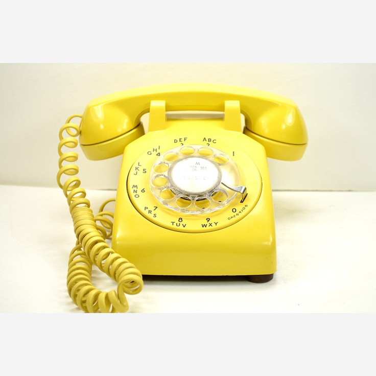 Vintage Rotary Phone In Yellow As Curated By The Fine Folks At The American  Telephone Store.