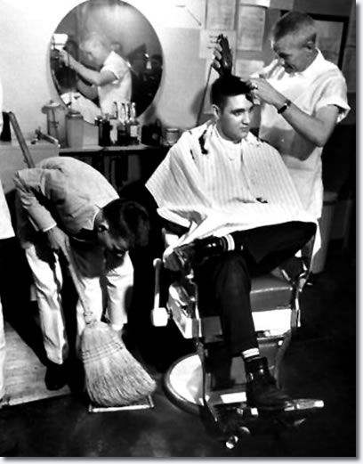 Elvis at the Barber